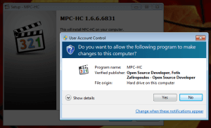 Install UAC prompt